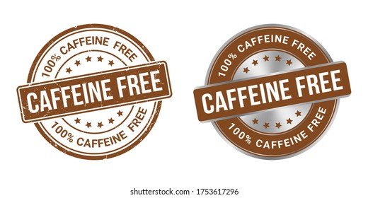 Caffeine free vector stamp and labels