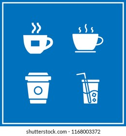caffeine icon. 4 caffeine vector set. soft drink and coffee cup icons for web and design about caffeine theme