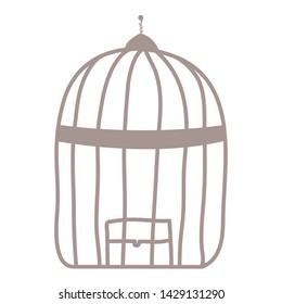 cage bird jail isolated icon