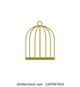 Cage icon flat illustration design
