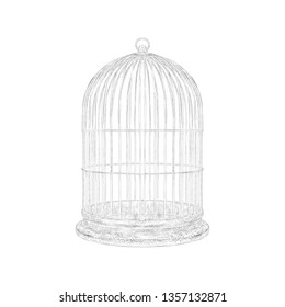 Cage illustration isolated on white background