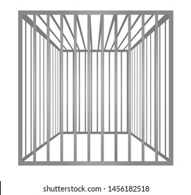Cage metal bars. vector illustration