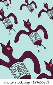 Caged Bird / Vector