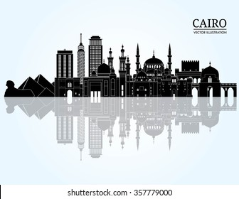 Cairo detailed skyline. Vector illustration