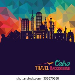 Cairo detailed skyline. Vector illustration