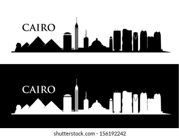 Cairo skyline - vector illustration