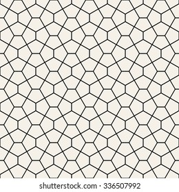 Cairo tiles pattern vector, pentagonal tiles background