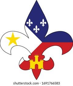 Cajun Flag Fleur De Lis