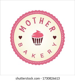 cake and bakery retro vintage logo design