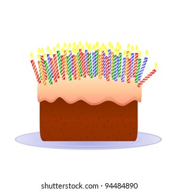 Incredible Cake Lots Of Candles Images Stock Photos Vectors Shutterstock Funny Birthday Cards Online Hendilapandamsfinfo