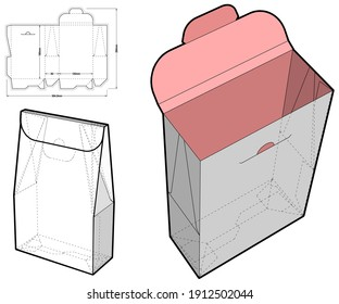 Cake Box and Die-cut Pattern. The .eps file is full scale and fully functional. Prepared for real cardboard production.