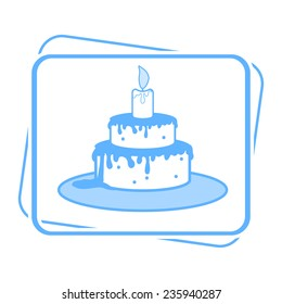 Cake with candle icon