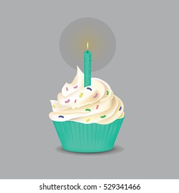 Cake with a candle for your design
