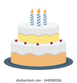 Cake Color Vector Icon which can be easily modified or edited