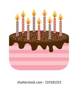 cake graphic design , vector illustration