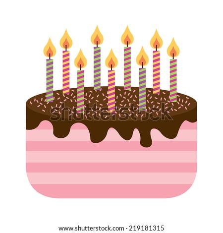 Cake Graphic Design Vector Illustration