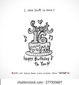 cake / Hand drawn illustrations - vector