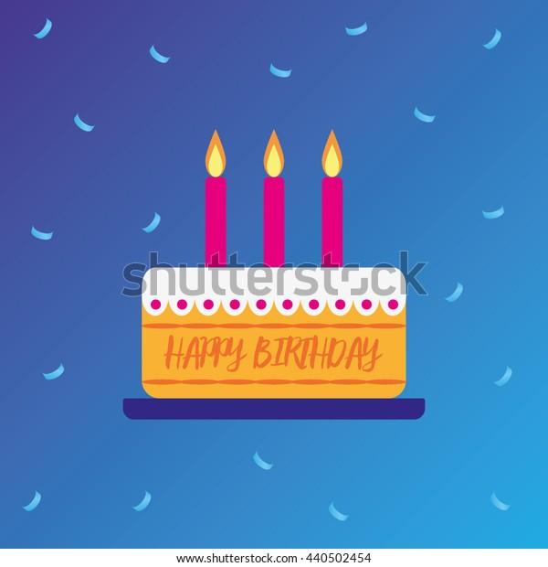 Cake. Happy birthday. Vector. EPS10