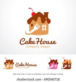 Cake House Logo Template Design Vector Stock Vector Royalty Free