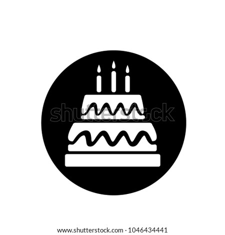 cake icon birthday sign template stock vector royalty free