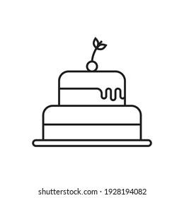 Cake icon design isolated on white background