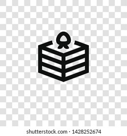 cake icon from miscellaneous collection for mobile concept and web apps icon. Transparent outline, thin line cake icon for website design and mobile, app development