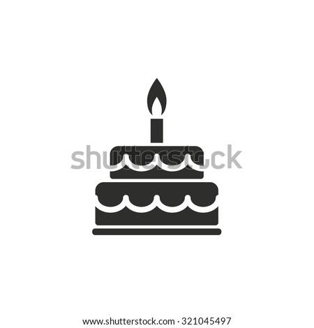 Immagine Vettoriale A Tema Cake Icon On White Background Vector