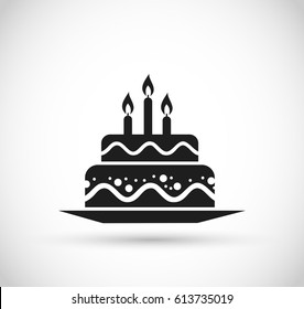 Birthday Cake Icon Images Stock Photos Vectors Shutterstock