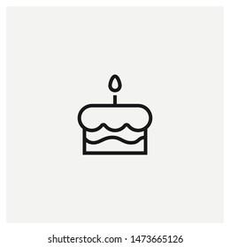 cake icon vector sign illustration
