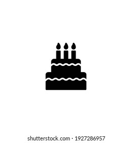 cake icon vector for web, computer and mobile app