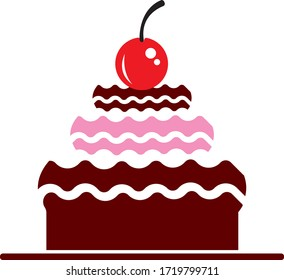 cake illustration logo vector template