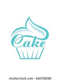 Cake Logo, Bakery Logo, Delicious Cake Logo