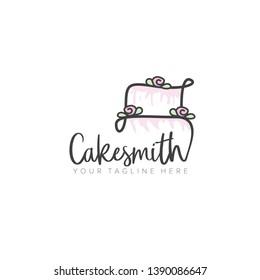 Cake Logo Design  for Wedding