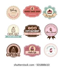 cake logo set