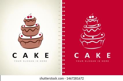 cake logo vector. Logo design.