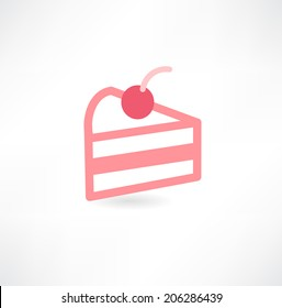 Cake piece vector illustration.