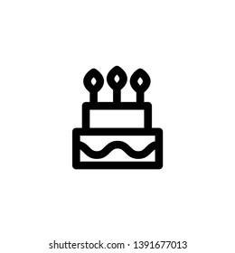 cake, sweet icon vector illustration