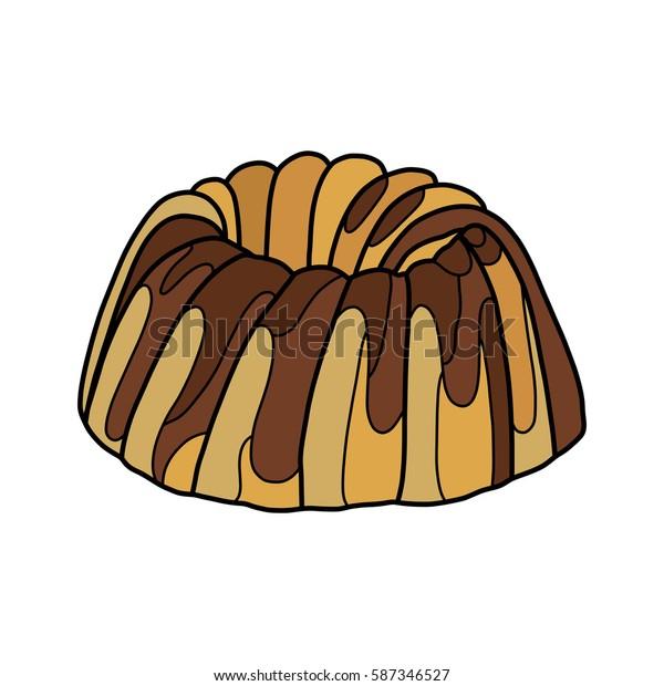 Cake, vector illustration, tasty food, desert