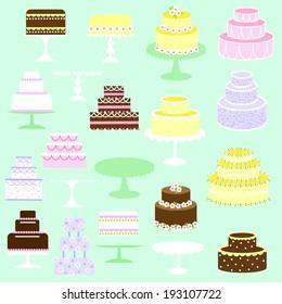 Cakes clip art