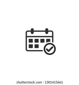 Calaendar Icon Agenda Symbol Logo Template