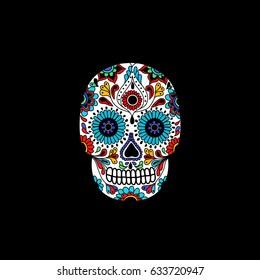 calavera doodle icon