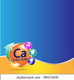 Calcium in milk infographic design
