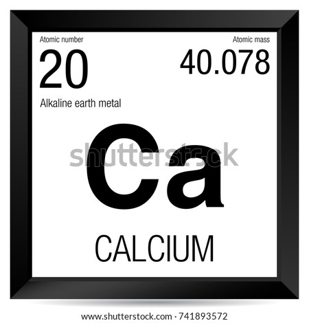 Calcium Symbol Element Number 20 Periodic Stock Vector Royalty Free