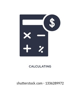 calculating isolated icon. Simple element illustration from strategy concept. calculating editable logo symbol design on white background. Can be use for web and mobile.