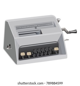 calculating machine vector