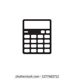 Calculator - black icon on white background vector illustration for website, mobile application, presentation, infographic. Graphis design sign element.