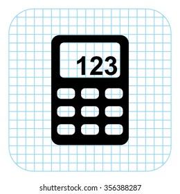 Calculator - black  vector icon