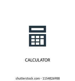 Calculator creative icon. Simple element illustration. Calculator concept symbol design from School collection. Can be used for web and mobile.