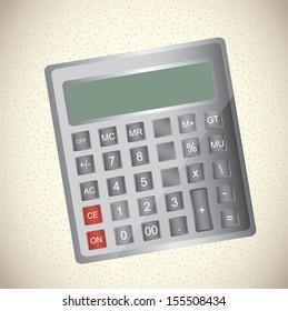 calculator design over beige background vector illustration