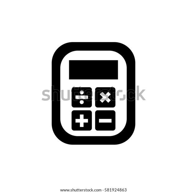 Calculator device isolated icon vector illustration graphic design